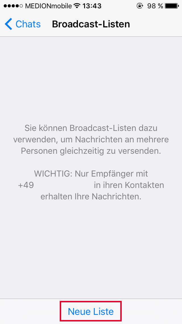 WhatsApp Kontakten bei Rufnummernwechsel neue Handynummer
