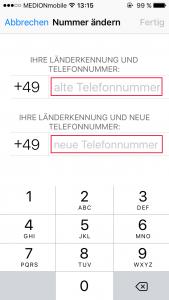 WhatsApp Nummer ändern Handynummern
