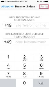 WhatsApp Nummer ändern abschließen