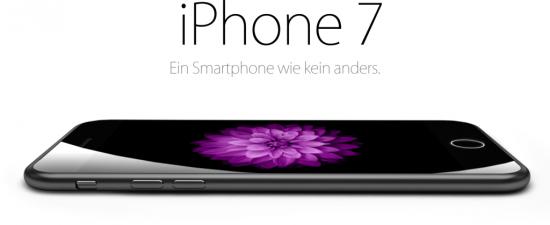 iPhone 7 liegend Konzept