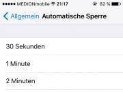 iPhone Automatische Bildschirmsperre