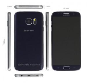 Samsung Galaxy S7 Abmessungen
