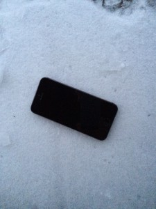 Smartphone Schnee