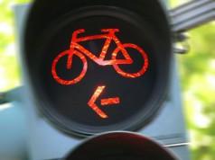 Fahrradfahrer Ampel