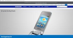Samsung Homepage Klapphandy