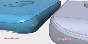 Galaxy Note 5 vs. 7 Seitenansicht