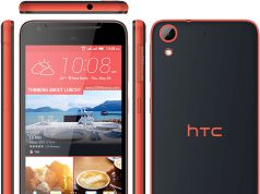 HTC Desire 628 in schwarz orange