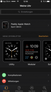 Apple Watch koppeln Einstellung