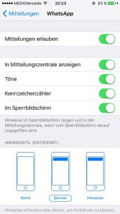 WhatsApp Push Notifications Details