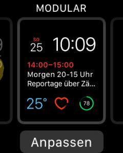 Zifferblatt anpassen Apple Watch