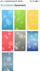 iOS 10 Dynamischer Hintergrund