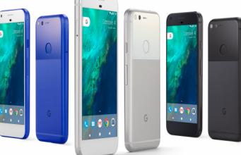 Google Pixel stehend