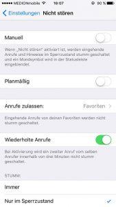iPhone Nicht stören einstellen