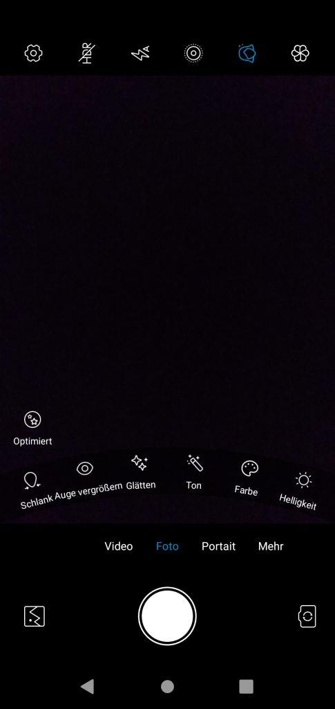 Kamera Optionen ZTE Blade V10