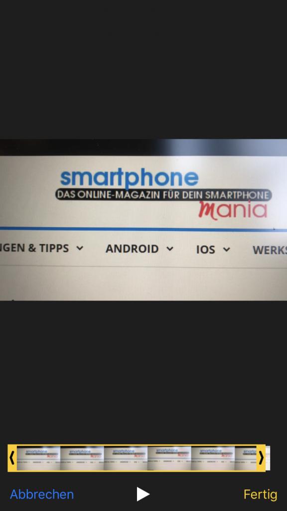 Videobearbeitung iOS
