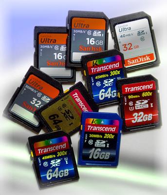 SD-Karten-Sammlung