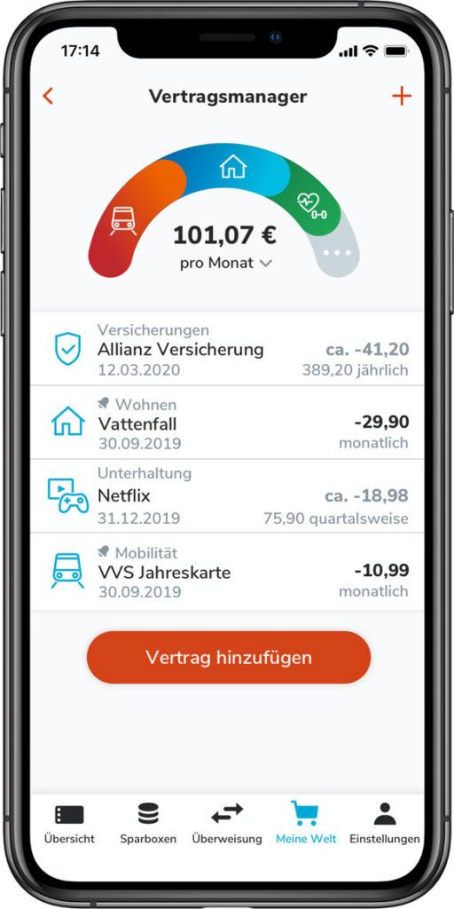 TEO App Vertragsmanager